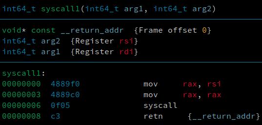 screenshot of correct disassembly